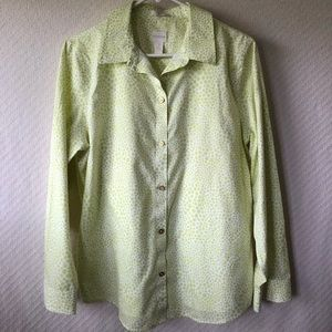 Chico's Cotton Long-Sleeve Button Blouse - Sz 2